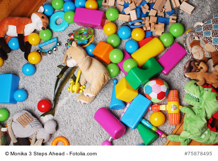 toys in kids room background